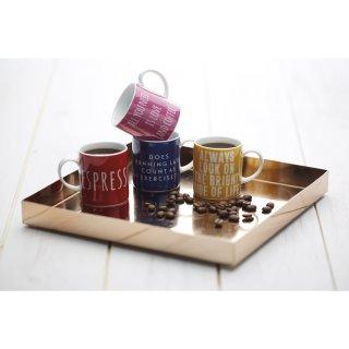 Kitchen Craft Espressotasse Espress Yourself H 6cm X Dm 5cm 80 Ml Rot Porzellan