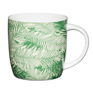 Kitchen Craft - Tasse palms - DM: 7 cm x H: 9 cm - 425 ml - grün - Fine Bone China