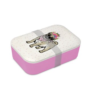 PPD - Lunchbox - Lilly - 19,8 cm x 12,8 cm x 6,5 cm - 900 ml - rosa-pink - Bambus-Silikon