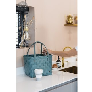 Handed By - Color Match Shopper - S - teal blue
